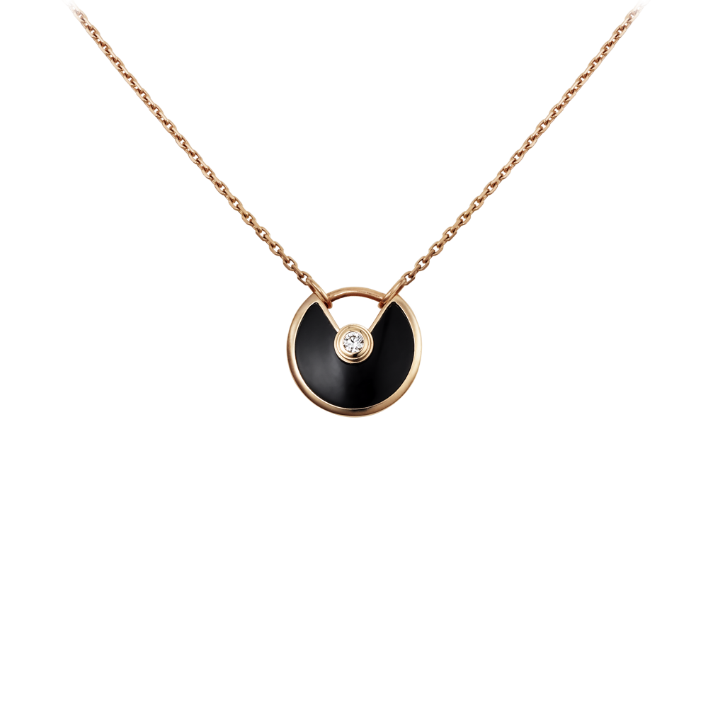Amulette De Cartier Necklace Pink Gold, Onyx, Diamonds B3047200