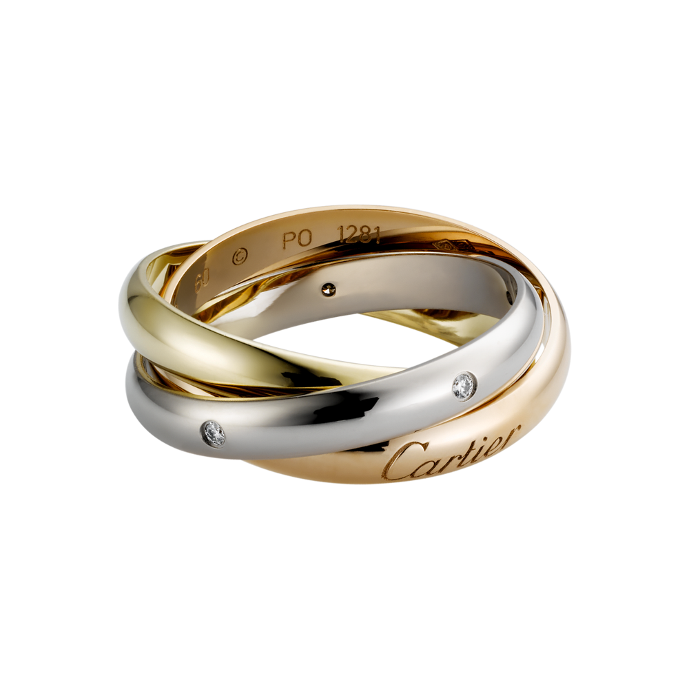 Trinity Ring Cartier 3-Gold, Diamonds B4088500