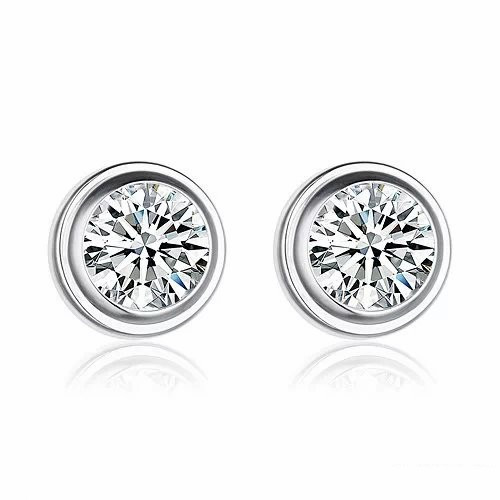 Cartier Diamants Legers De Earrings In 18k White Gold With 1 White Diamond on cartier pasha watches